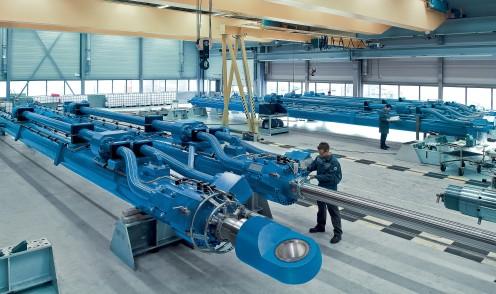 Cilindros hidráulicos de grande porte industriais