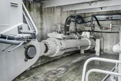 Cilindro da descarga de fundo hidráulico de grande porte