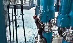 Cilindros de compensação de movimento hidráulicos de grande porte